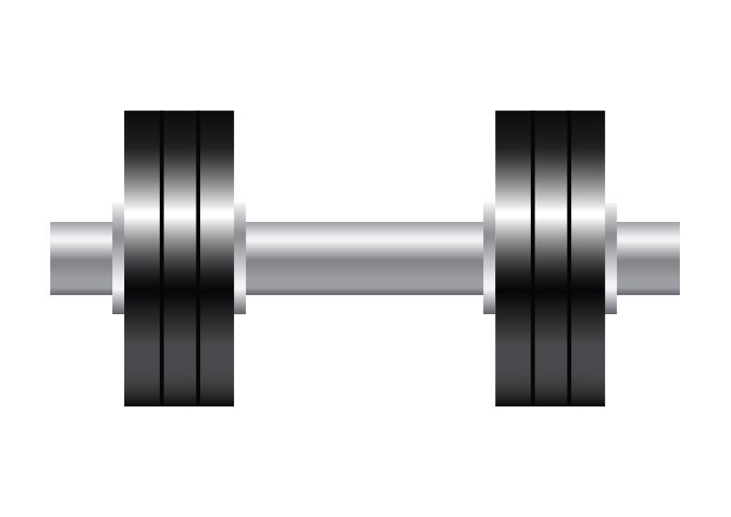 Dumbbell Icon Vector Dumbbell Vector Icon