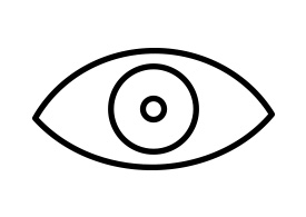 Eye Outline Vector Icon