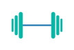 Flat Dumbbell Icon
