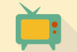 Flat Retro TV Vector Icon