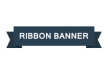 Flat Ribbon Banner Vector