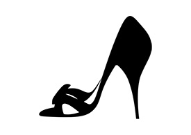 High Heel Shoe Vector Silhouette