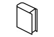 Isometric Outline Book Vector Icon
