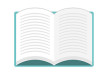 Open Book Flat Vector Graphic