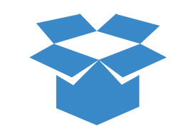 Open Box Flat Blue Icon