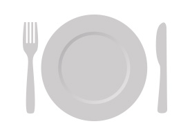 Plate With Cutlery Free Vector