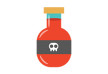 Poison Bottle Flat Vector Illustration