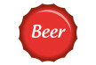 Red Beer Bottle Cap