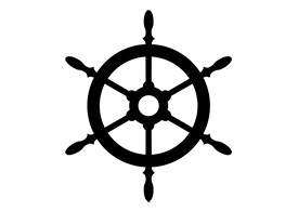 Ship's Wheel Silhouette