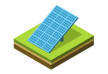 Solar Panel Isometric Vector