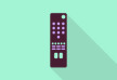 TV Remote Flat Vector Icon