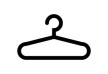 Black Simple Coat Hanger Icon