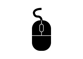 Black Simple Computer Mouse Icon