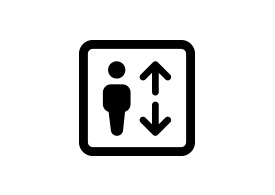 Black Simple Elevator Vector Icon