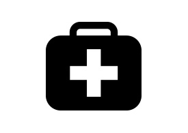 Black Simple Medicine Chest Icon