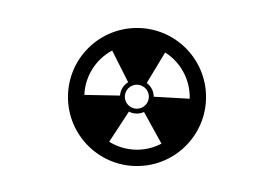 Black Simple Radioactive Vector Icon