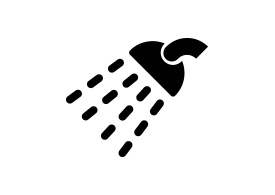 Black Simple Shower Icon