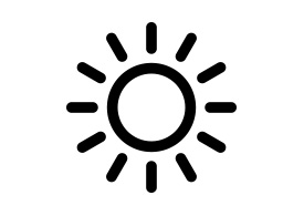 Black Simple Sun Icon