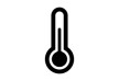 Black Simple Thermometer Icon