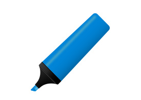 Blue Marker Free Realistic Vector