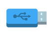 Blue USB Key Icon