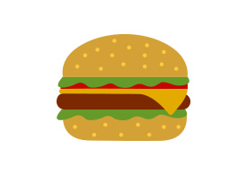 Flat Hamburger Vector Illustration