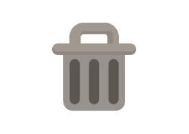 Flat Rubbish Bin Vector Icon