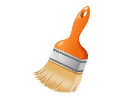 Free Vector Orange Paint Brush Illustration