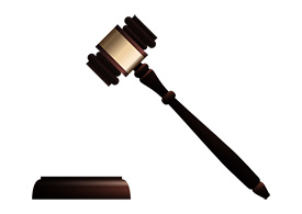 Realistic free vector wooden judge gavel