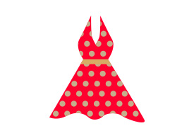 Red Dotted Women Dress