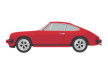 Red Porsche 911SC Vector Car Illustration