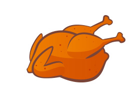 Roast Chicken Free Vector