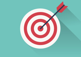 Target With Arrow Flat Free Vector