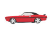 1970 Dodge Challenger Vector Car Illustration