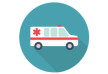 Ambulance Car Flat Vector Icon