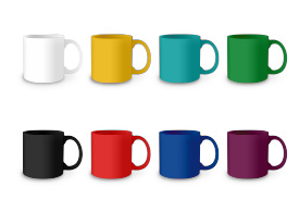 Colorful Set Of Cups