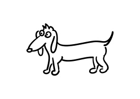 Dog Vector Doodle