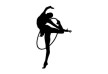 Gymnast With Hoop Vector Silhouette