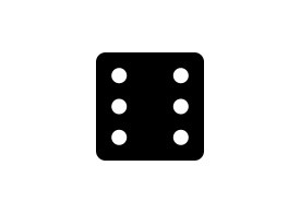 Black Simple Dice Icon