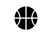 Simple Black Basketball Icon
