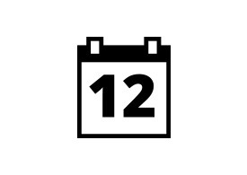 Simple Black Calendar Vector Icon