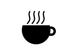 Simple Black Hot Coffee Icon