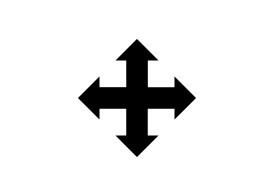 Simple Black Move Icon