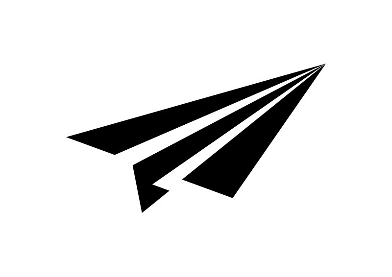 simple black paper plane vector icon rh superawesomevectors com paper airplane vector image paper airplane vector free download