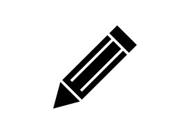 Simple Black Pencil Vector Icon