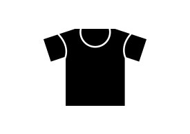 Simple Black T-shirt Vector Icon