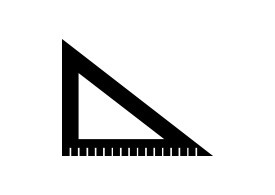 Simple Black Vector Ruler Icon