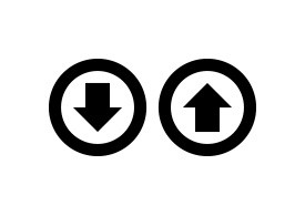 Up And Down Arrow Circles Icons