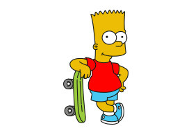 Bart Simpson Vector Character