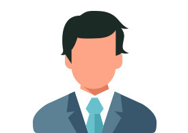 Businessman With Suit Flat Vector Icon